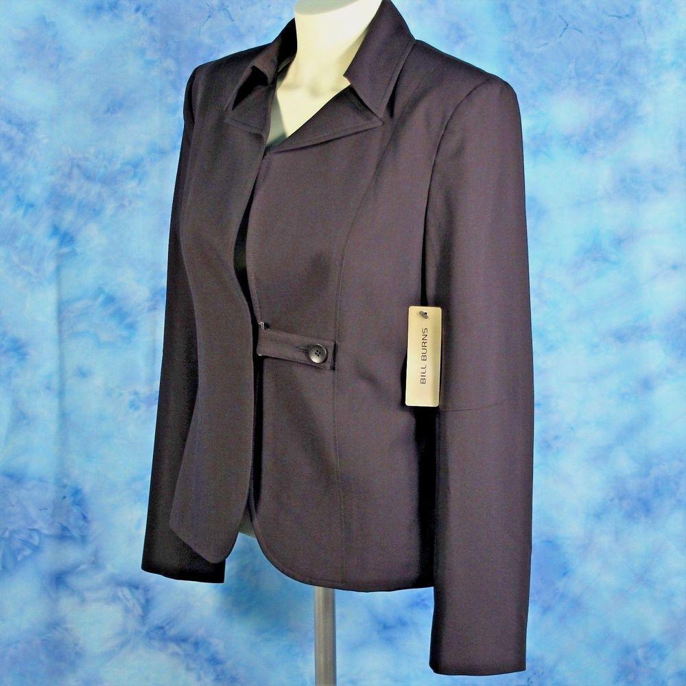 Bill Burns ITALY Designer Travel Jacket Size 10 Blazer Espresso Brown NEW $398 #BillBurns #Blazer