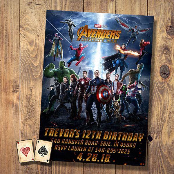 Infinity wars invitation infinity war party avengers birthday avengers theme invitation aperfectpair invitations graphicdesign movie birthday diy stopboris Choice Image