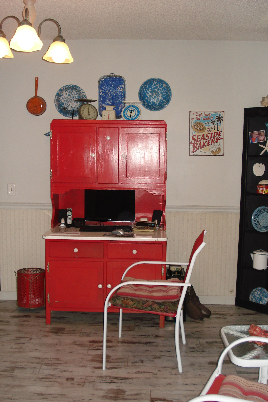 Basement Study Room: Hoosier Cabinet Computer Desk, For The Kids Study Room. I