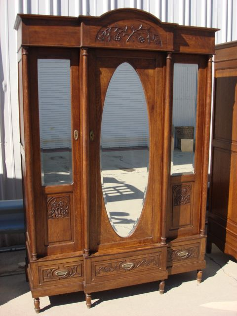 Antique Furniture French Antique Armoire Wardrobe Antique Closet Cabinet  Bedroom Furniture