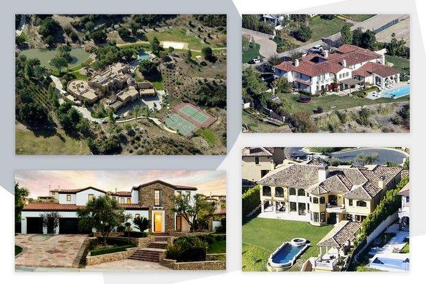 Will Smith, Justin Bieber, Kylie Jenner e Kim Kardashian são algumas das celebridades que vivem em Calabasas (Foto: Reprodução)