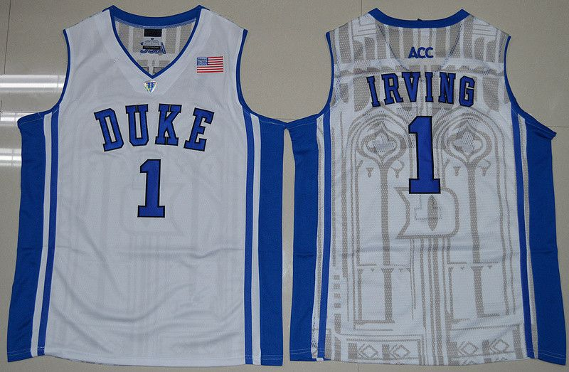 Duke Blue Devils 1 Kyrie Irving Jersey Black White Blue 1 Jabari Parker  College Jerseys Shirt Rev 30 New Material Best Quality-017 2ba9cdec1