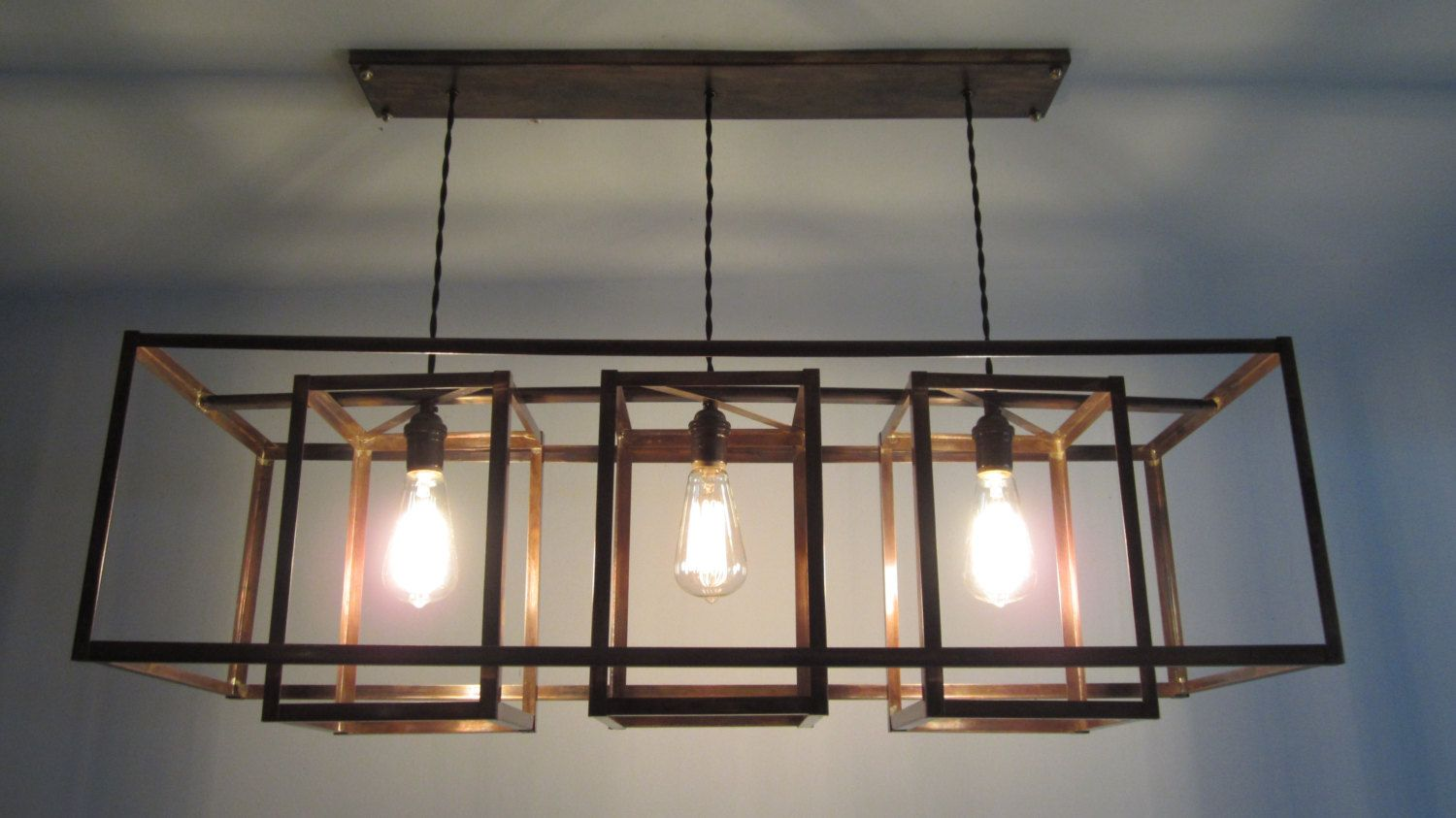 Modern Industrial Geometric Copper Hanging by
