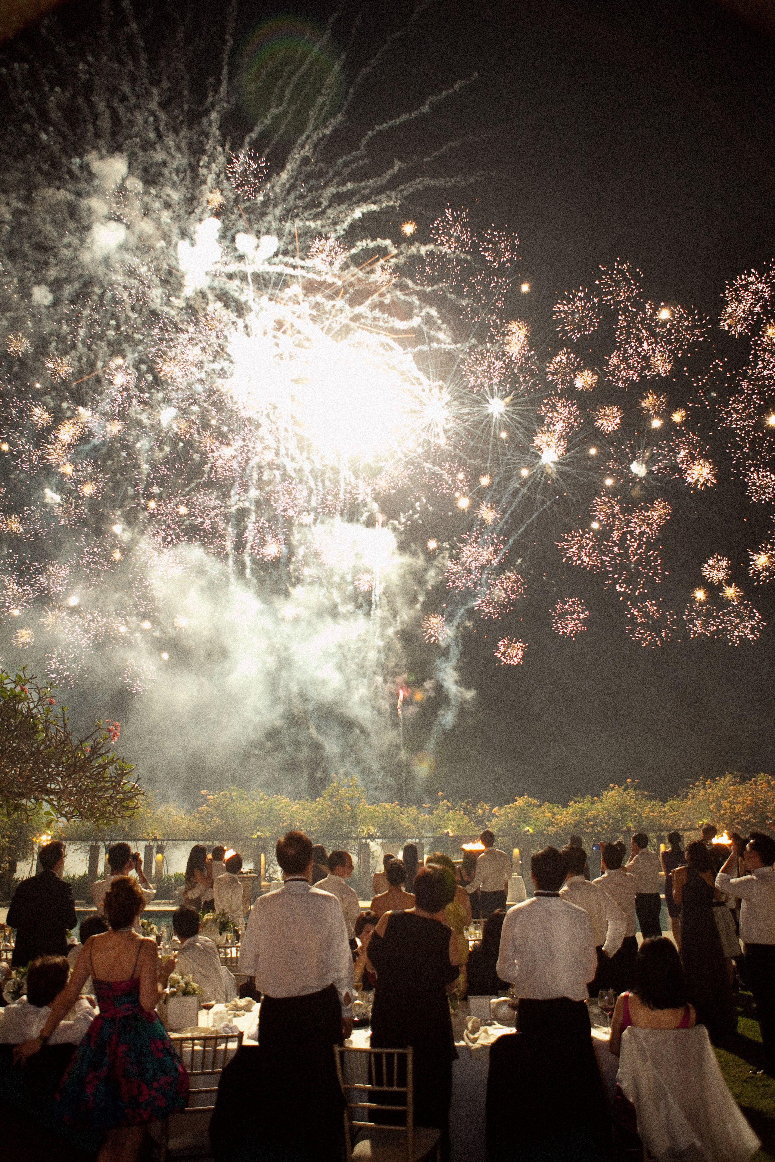 Fireworks in Bali.