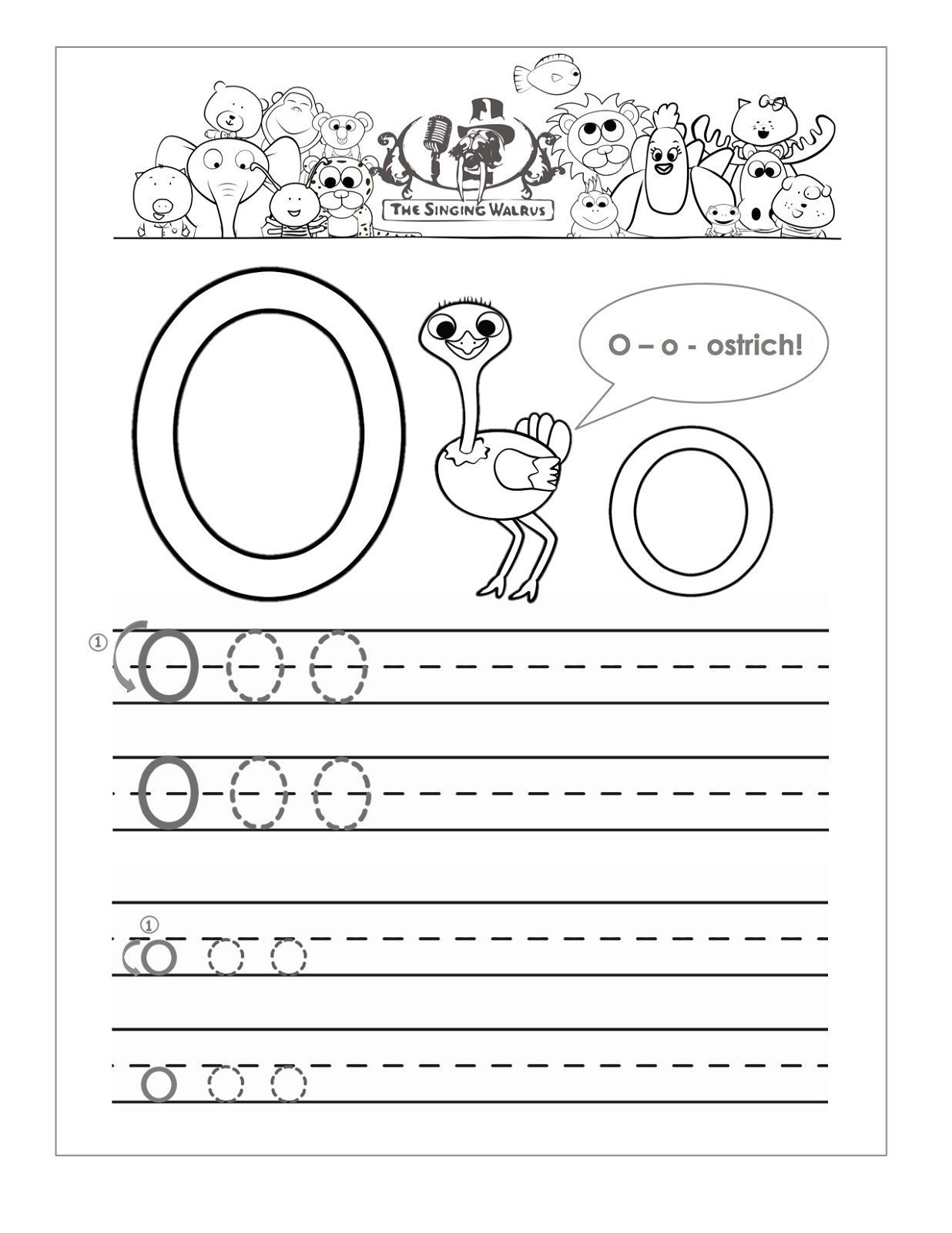 Preschool Worksheets With The Letter O With Images