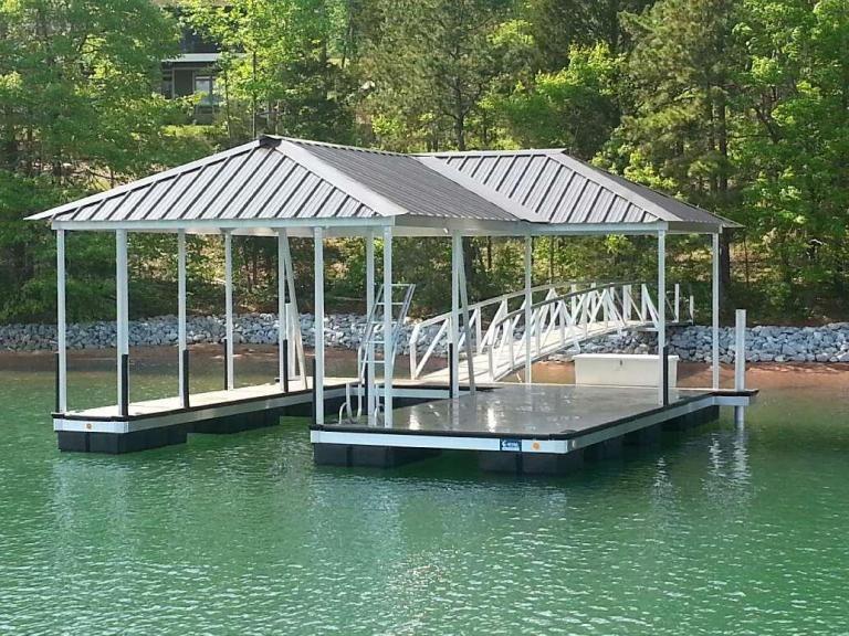 Aluminum Boat Dock Lake Keowee Lake Keowee Boat Docks For