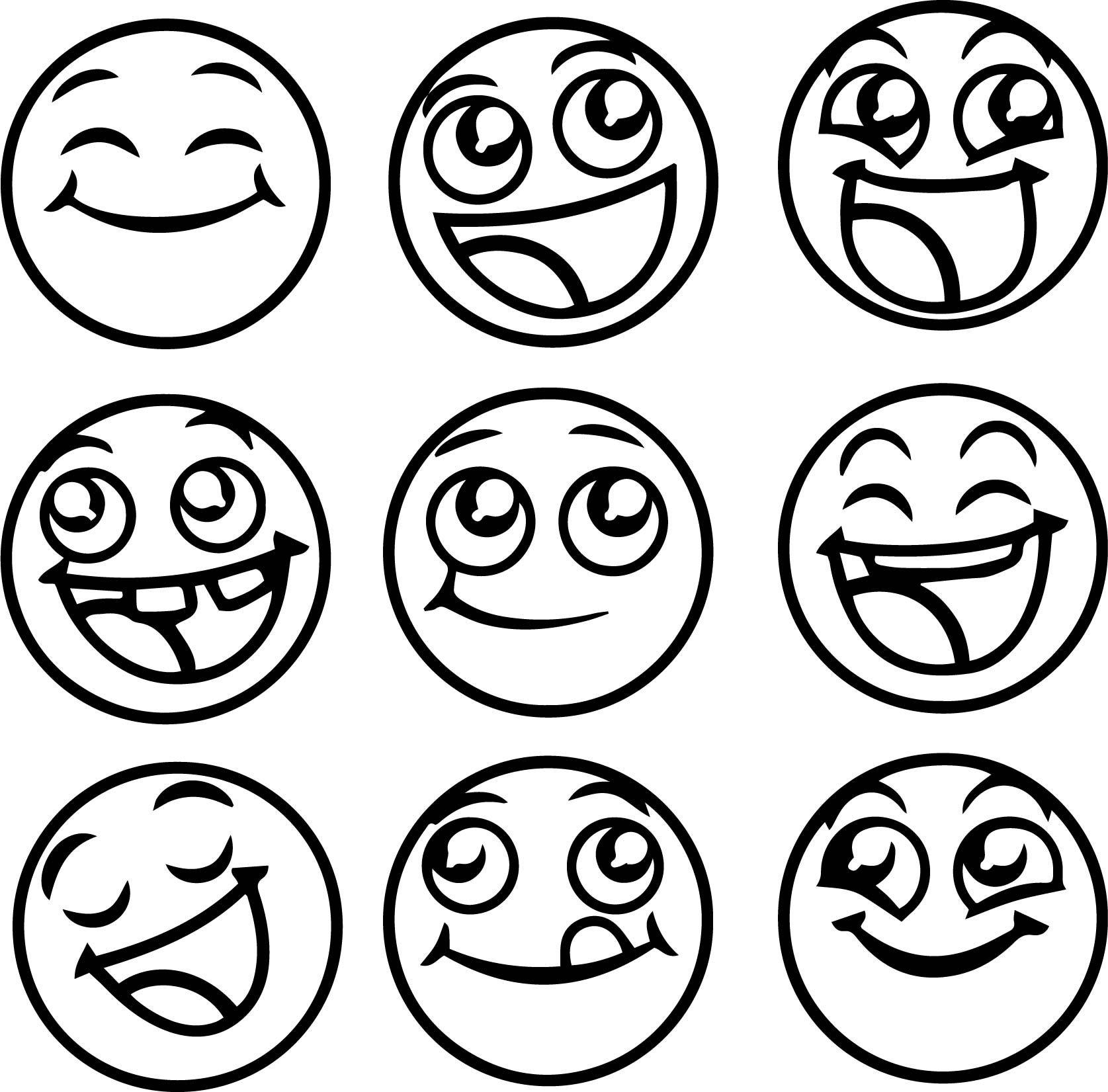 Happy Emoticons All Coloring Page Emoji Coloring Pages Printable Coloring Pages Coloring Pages