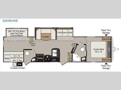 Passport Travel Trailers Floorplans Keystone Rv Rv Floor Plans Floor Plans Keystone Rv