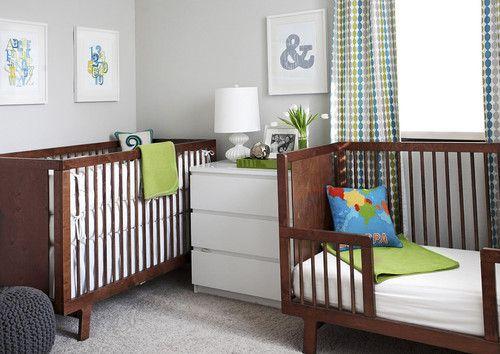 Toddlernewborn Sharing A Room Modern Kids By Em Design Interiors