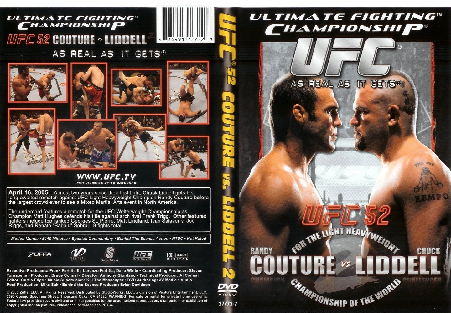 Ultimate Fighting Championship Ufc 52 Couture Vs Liddell 2 Dvd Ultimate Fighting Championship Ufc Mixed Martial Arts