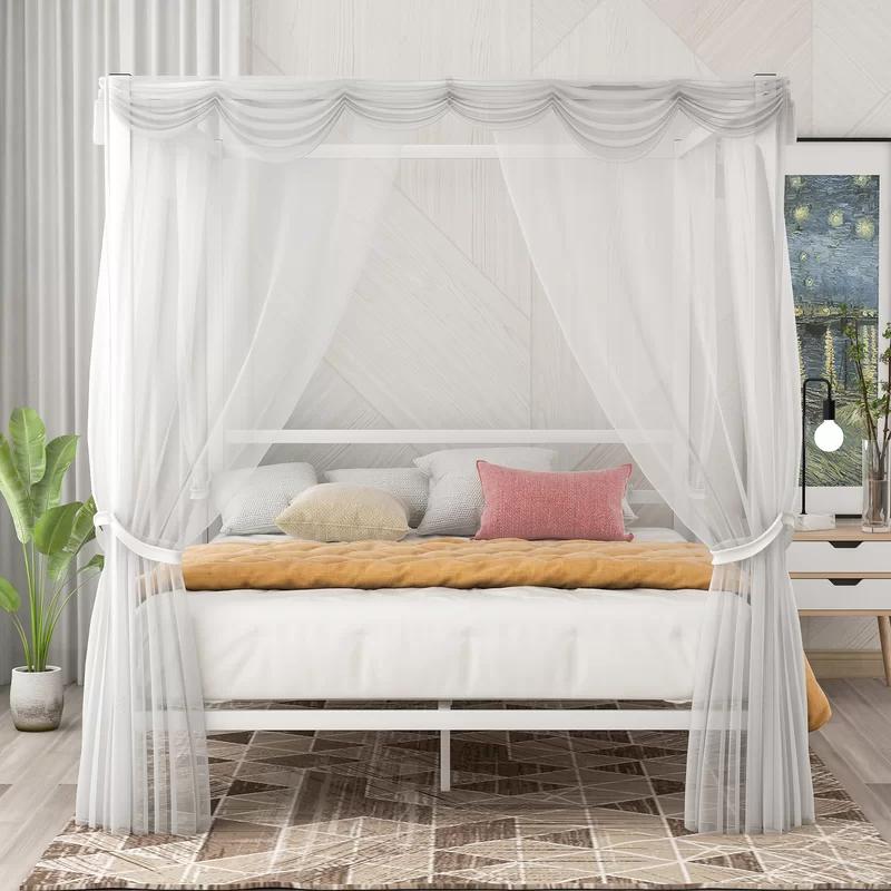 Aalana Queen Canopy Bed in 2020 Queen canopy bed, Bed