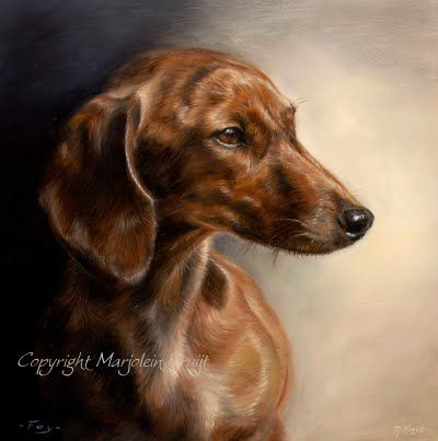 Dashond Dog Art Dog Paintings Canine Art