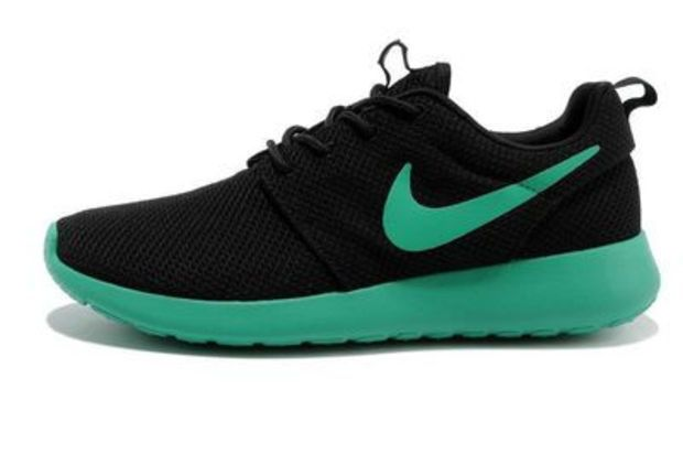 n012 - Nike Roshe Run (Black/Teal)