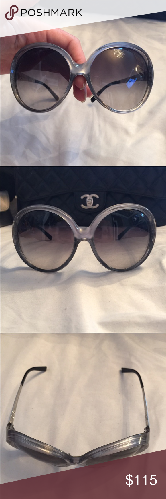 Brand NEW D&G Dolce Gabbana Sunglasses Grey This is a great large round pair of sunglasses offering excellent coverage, comfort and style. Color is a mix of grey on the front and silver metal handles. D&G Accessories Sunglasses