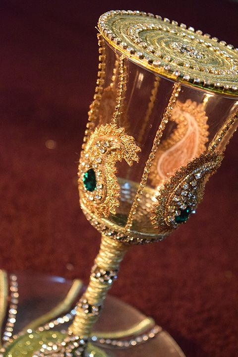 Pakistani Wedding Glass Design Doodh Pilai Desi