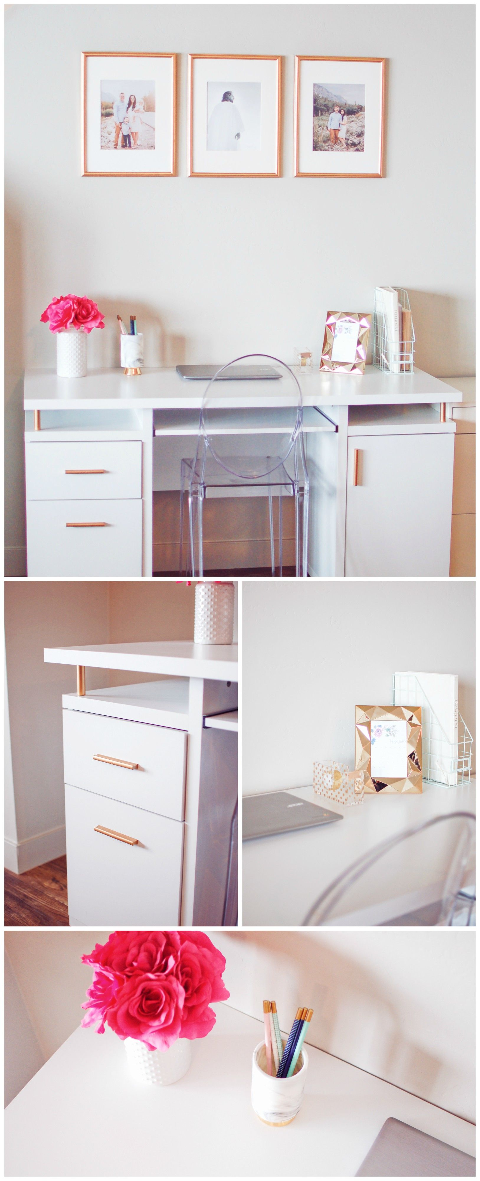pinterest img like organization lily desk rosegold marble diy decor tips giveaway