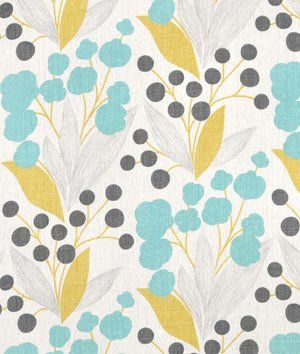 Portfolio Capparis Sunshine Fabric - by the Yard but YIKES: $31 a yard!  Maybe just 2 pillows?