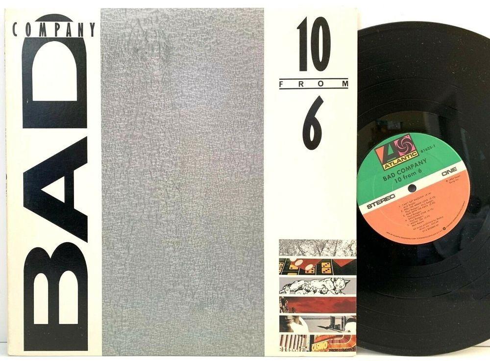 Bad Company 10 From 6 1985 Atlantic Original 81625 1 Lp Vinyl
