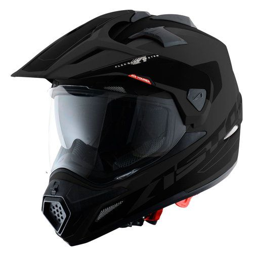 cdbdc3752f63d Casco para moto ASTONE CROSS TOURER MATE NEGRO