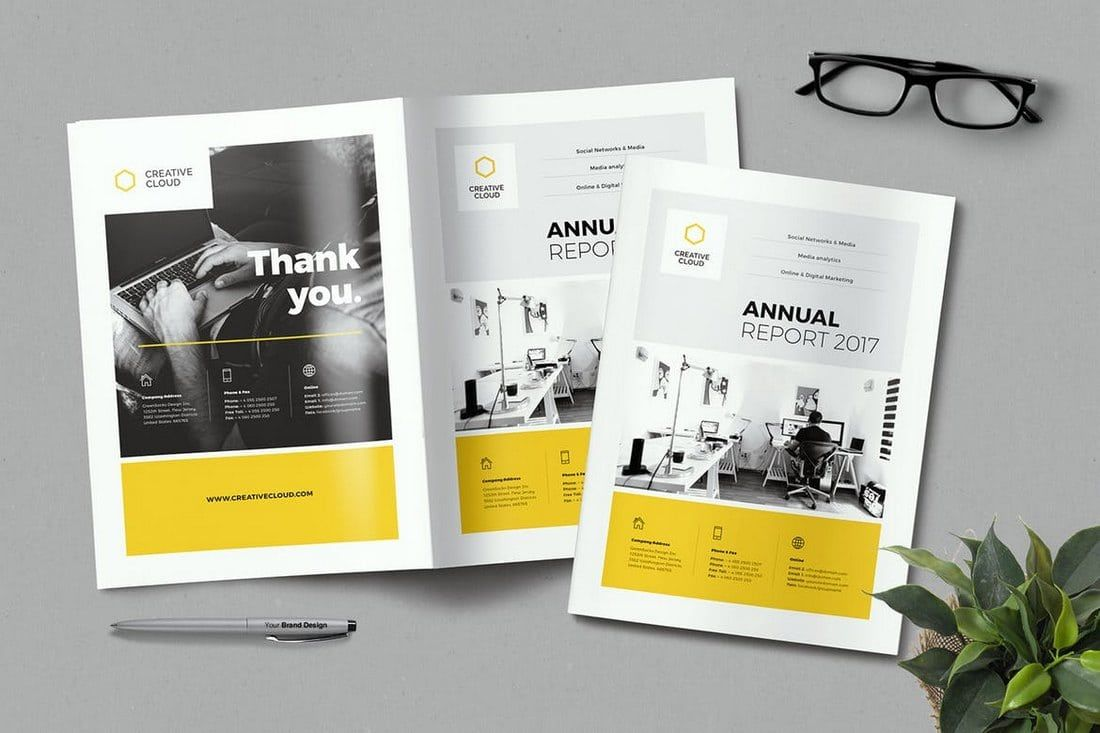 20 Annual Report Templates Word Indesign 2018