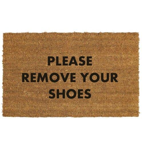 Please Remove Your Shoes Doormat Door Mat Personalized Door