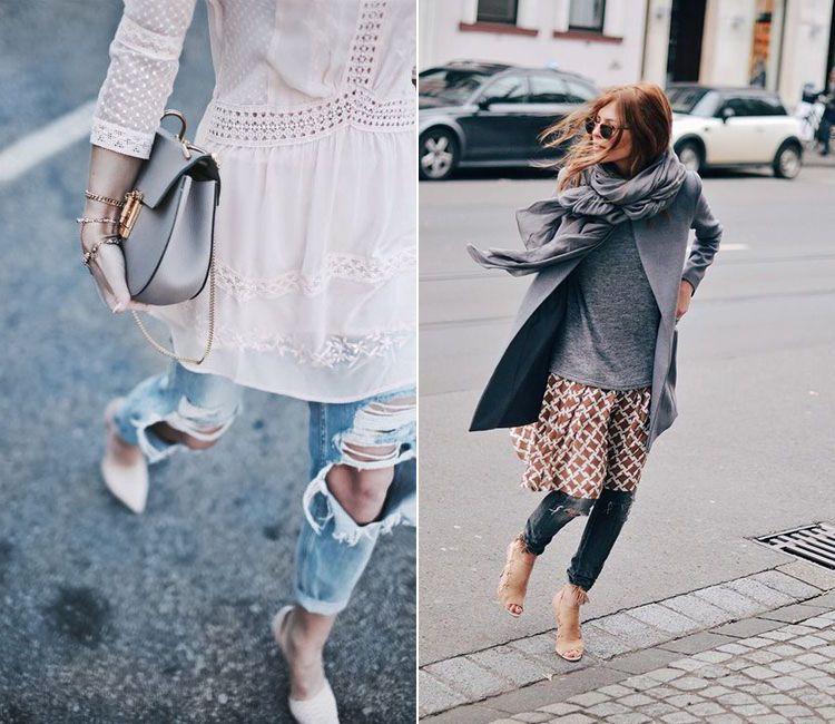 74a7fedade Vestidos sobre pantalones la tendencia del 2016
