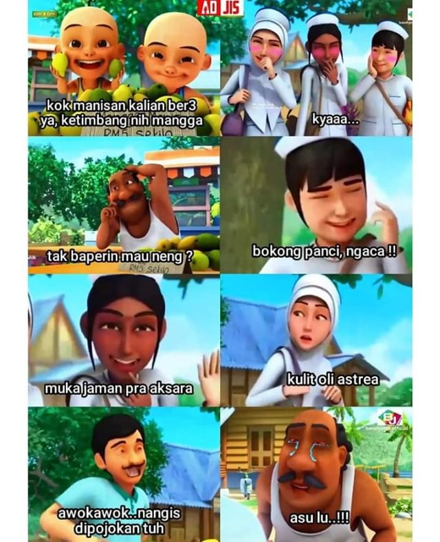 Pin Oleh Kimi Chan 3 Di Upin Ipin Meme Meme Instagram Lucu