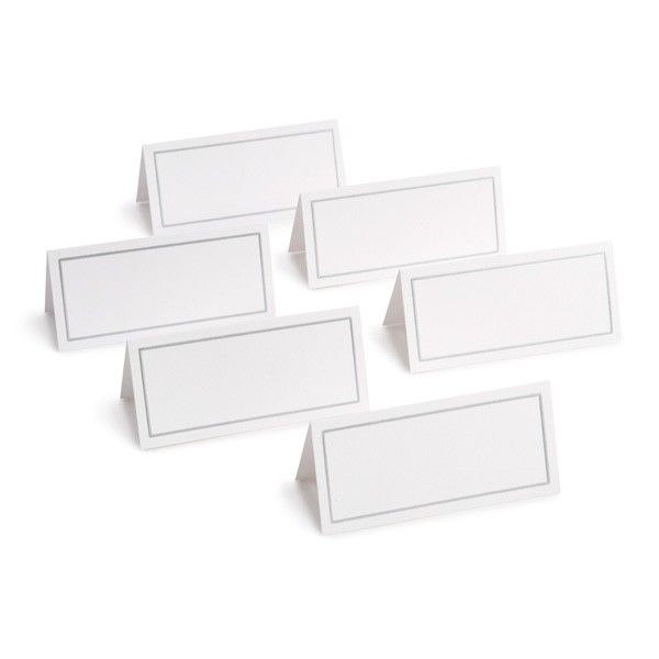 Platinum Border Place Cards From Gartner Studios I Purchased Them At Staples And Printed Home