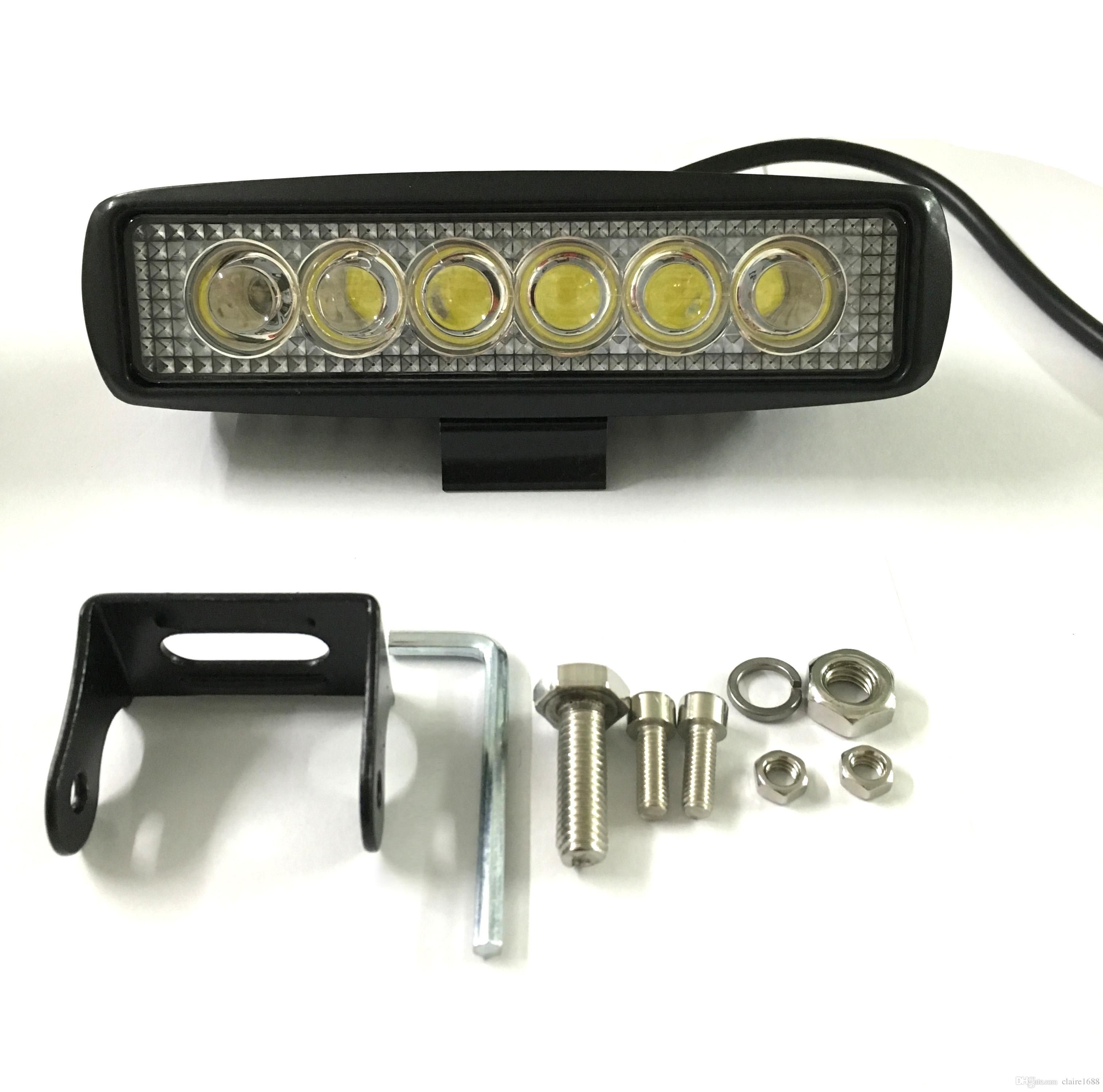 6 inch 18W LED Work Light Lamp for Motorcycle Tractor Boat f Road