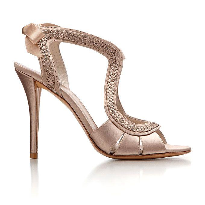 Donald j pliner adele strappy high heel sandal rose for Gold dress shoes for wedding