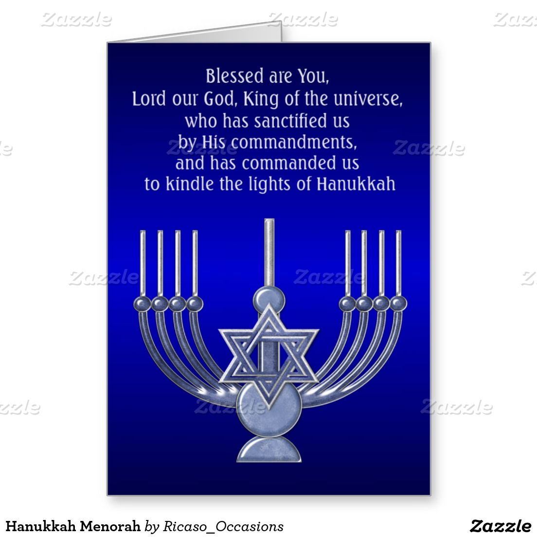 Hanukkah Menorah Holiday Card | Zazzle.com | Israel ...