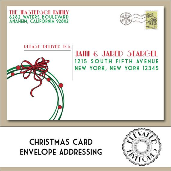 Editable Christmas Envelope Templatetemplettenvelope Etsy Christmas Envelopes Christmas Card Envelopes Christmas Envelope Art