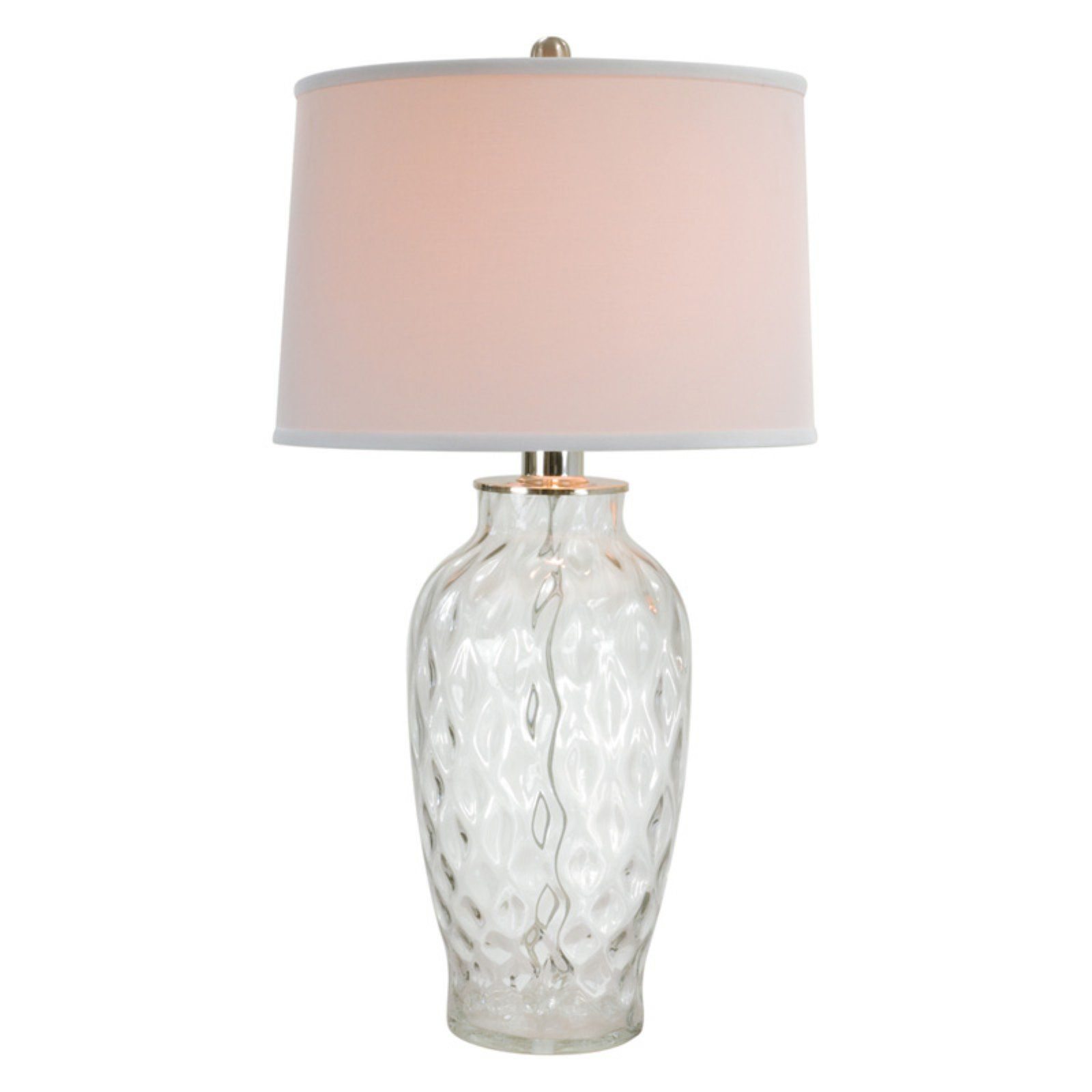 Anthony California 29 in. Clear Bubble Glass Table Lamp