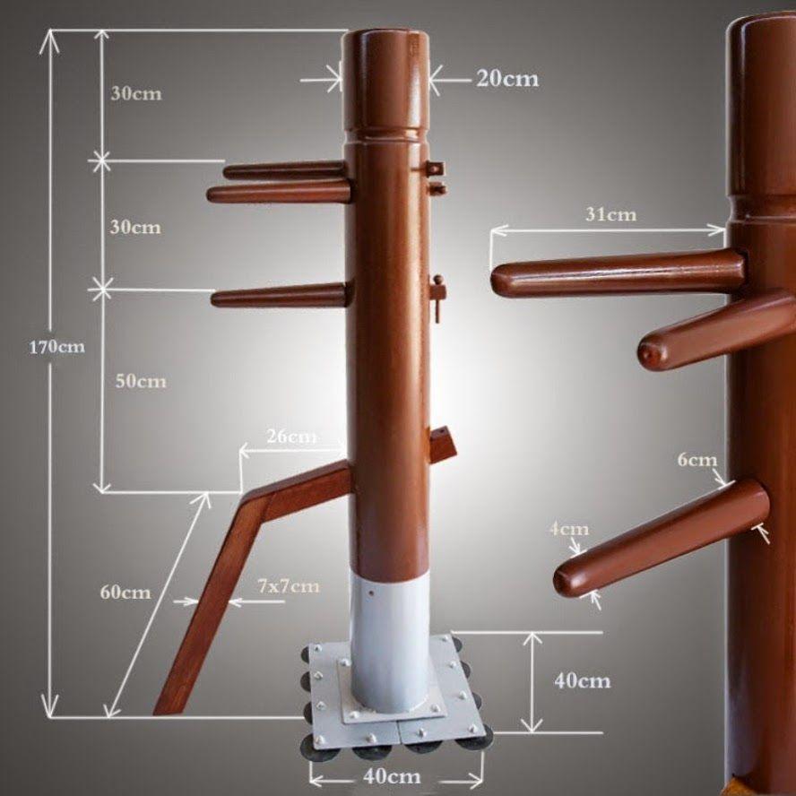 Buy chinese kungfu wing chun wooden standing wood dummy
