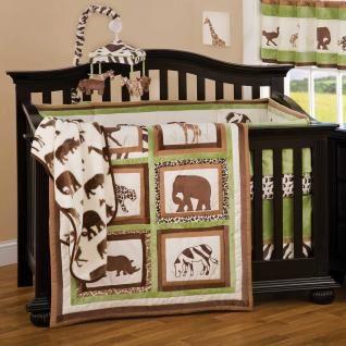 baby boy crib bedding sets jungle animal neutral. Black Bedroom Furniture Sets. Home Design Ideas