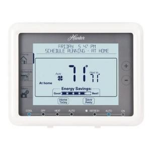 Hunter 7 Day Touchscreen Programmable Thermostat Universal 44905