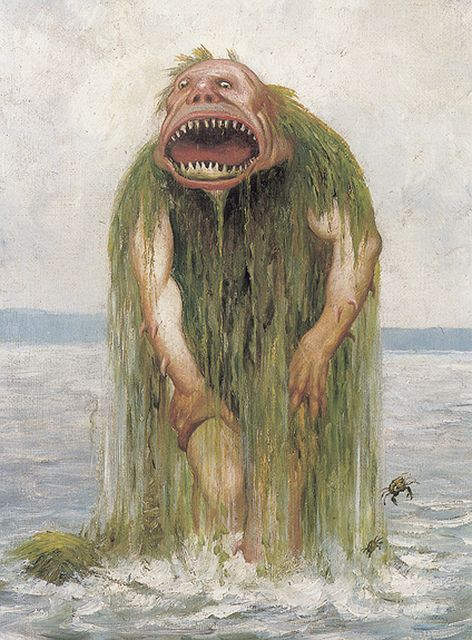 Theodor Kittelsen - The Water Troll Who Eats Only Young Girls, 1881 by Aeron Alfrey, via Flickr