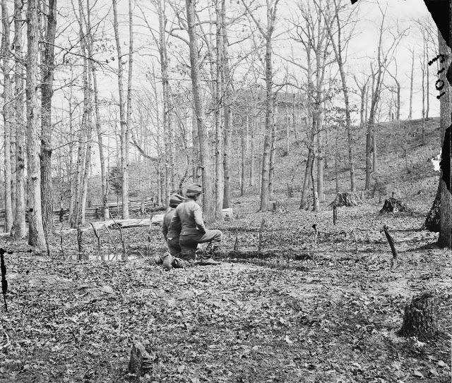 Remembering the dead at Sudley Church near Bull Run, Va. March 1862.