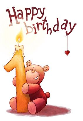 1st Birthday Cards Free Printable : birthday, cards, printable, Brown, Teddy, Birthday, Greetings, Island, Cards,, Printable, Cards