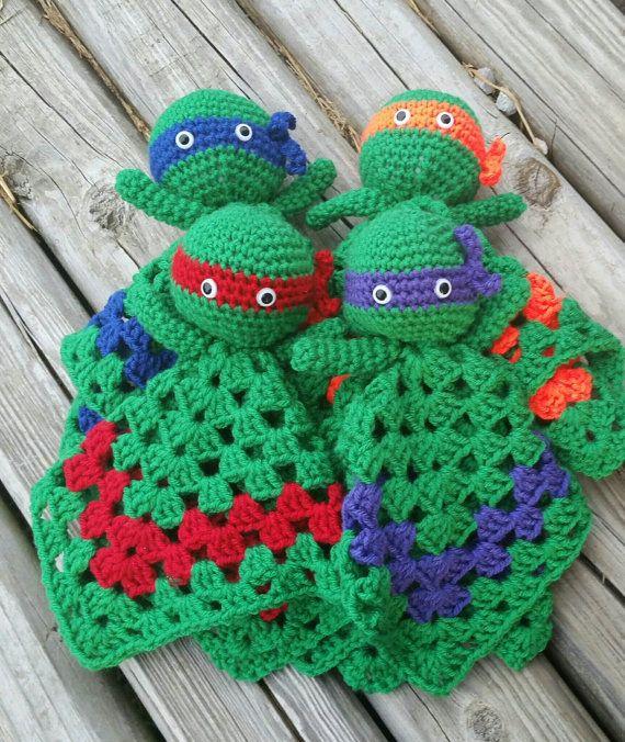 Teenage mutant ninja turtles crochet lovey by KrafternoonGifts2 ...