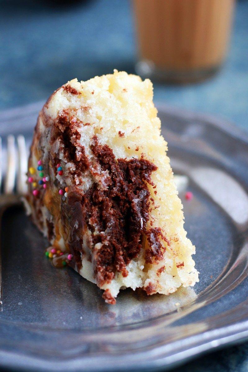 chocolate Vanilla cake recipe with step by step photos ...