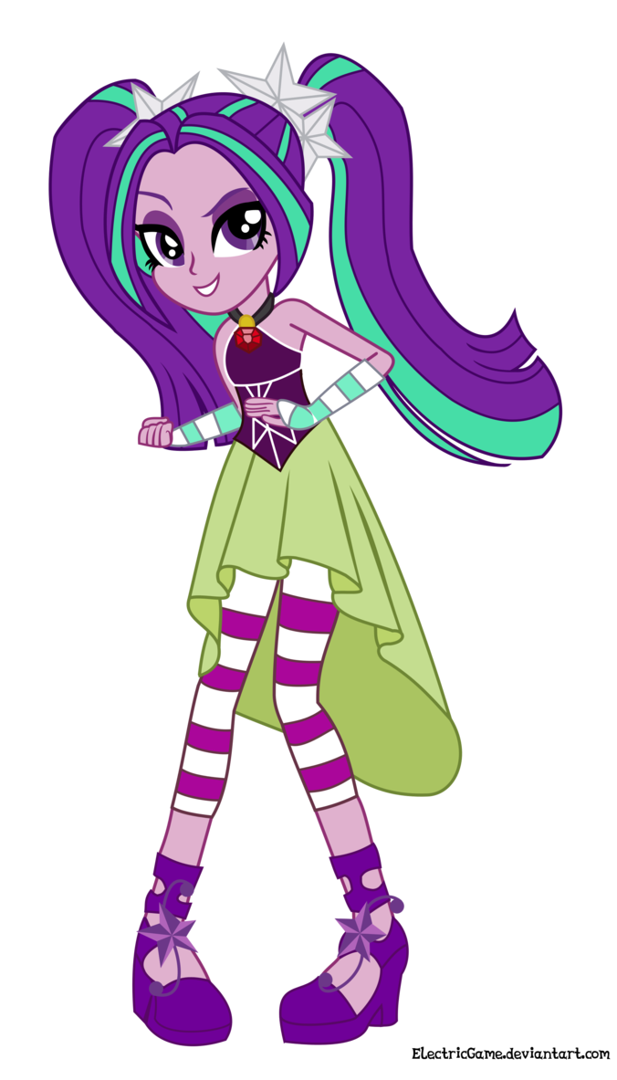 MLP EG Rainbow Rocks Aria Blaze Vector 1 by ElectricGame this is the first time I've seen this character smile