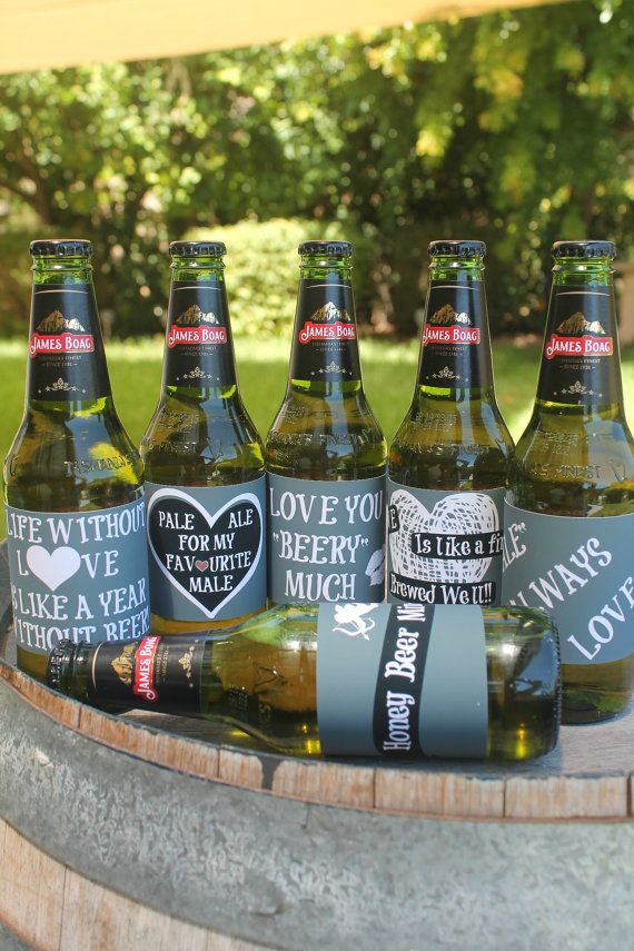 graphic about Printable Beer Labels titled Valentines Working day Printable Beer Labels / Beer Present / Chalk