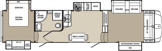 Open Range 3X 377FLR 41 Front Living Room 5th Wheel With 5 Slides