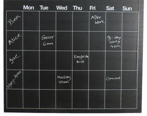 Itsekiinnittyvä liitutaulu, viikkosuunnitelma