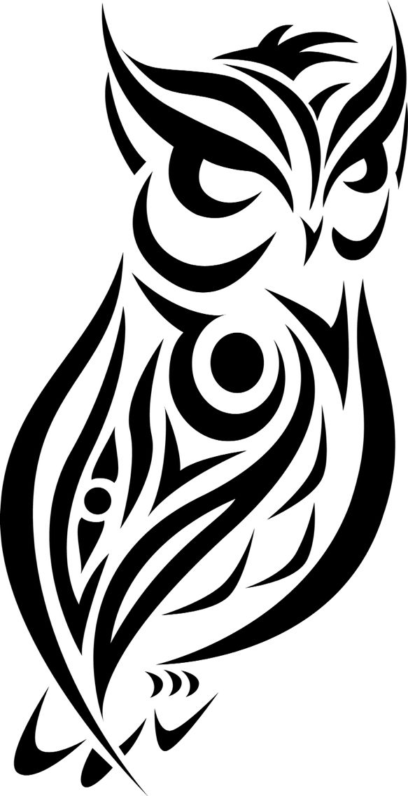 Owl Clipart Black And White Free Tribal Animal Tattoos Tribal Animals Tribal Drawings