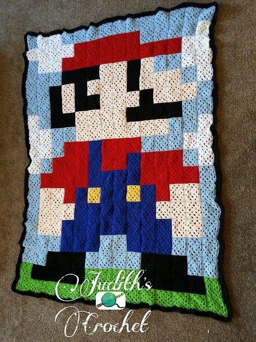 Crochet Mario 8-bit blanket by crochet-hooker | crochet ideas ...