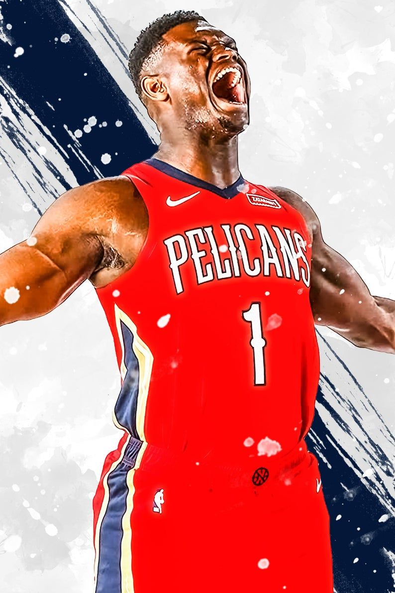 Zion Williamson New Orleans Pelicans Poster Print Sports Art Etsy New Orleans Pelicans Basketball Senior Pictures Williamson