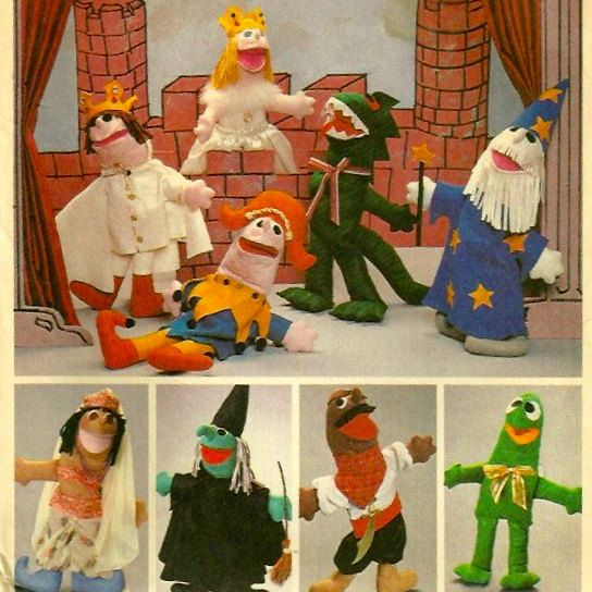 1980s McCalls 8281 Amazing Medieval Felt Puppets or Dolls Pattern ...