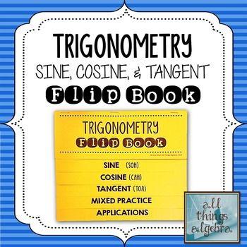 Right Triangle Trigonometry Flip Book | My TpT Store - All